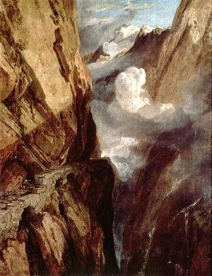 Turner - The Pass of St. Gotthard, Switzerland