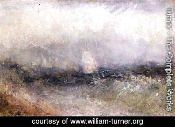 Turner - Off the Nore Wind and Water, 1840-5