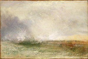 Turner - Stormy Sea Breaking on a Shore, 1840-5