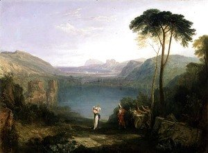 Turner - Lake Avernus Aeneas and the Cumaean Sibyl, c.1814-5