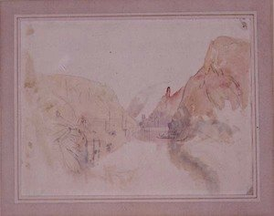 Turner - Castle of Traben-Trarbach on the Moselle, c.1844