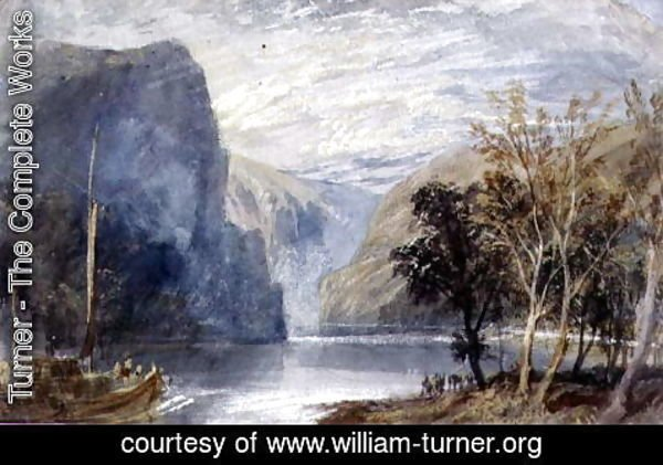 Turner - The Lorelei Rock, c.1817