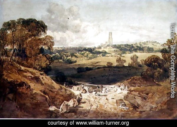 View of Fonthill from a Stone Quarry, c.1799