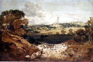 Turner - View of Fonthill from a Stone Quarry, c.1799