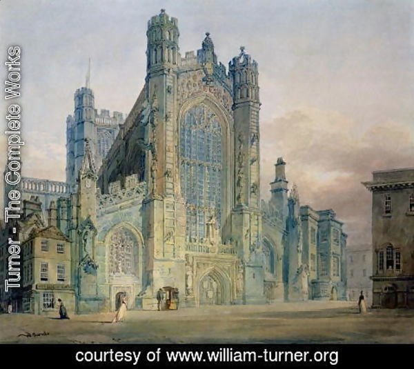 Turner - The West Front of Bath Abbey