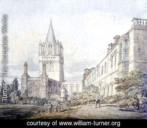 Turner - Christ Church Cathedral and Deanery, Oxford