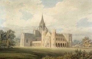 Perspective View of Fonthill Abbey from the South West, c.1799