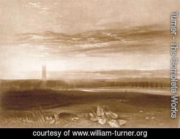 Turner - Gloucester Cathedral, from the Little Liber, engraved by the artist, c.1826