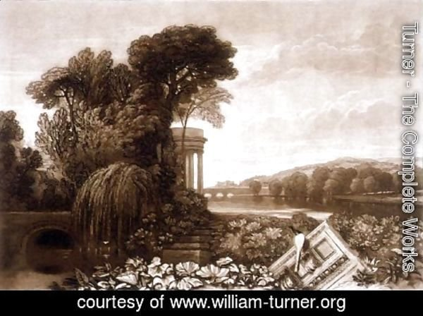 Turner - Isis, from the Liber Studiorum, engraved by William Say, 1819