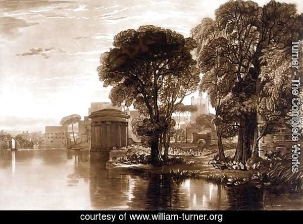 Isleworth, from the Liber Studiorum, engraved by Henry Dawe, 1819