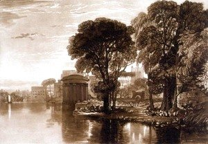 Turner - Isleworth, from the Liber Studiorum, engraved by Henry Dawe, 1819