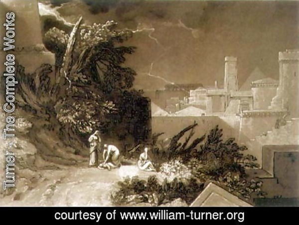 Turner - The Tenth Plague of Egypt, from the Liber Studiorum, engraved by William Say, 1816