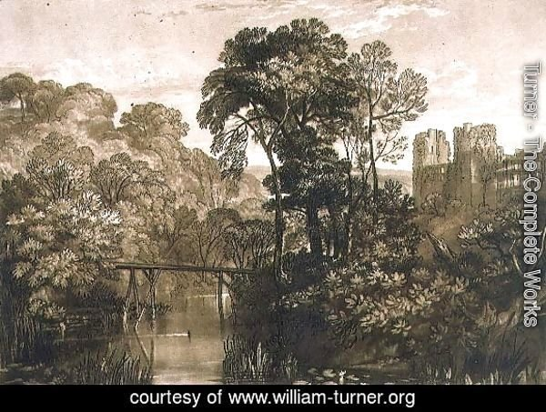 Berry Pomeroy Castle, from the Liber Studiorum, engraved by the artist, 1816