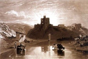 Norham Castle on the River Tweed, from the Liber Studiorum, engraved by Charles Turner, 1816