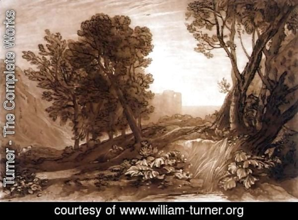 Turner - Solitude, from the Liber Studiorum, engraved by William Say, 1816