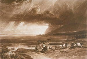 Turner - Solway Moss, from the Liber Studiorum, engraved by Thomas Lupton, 1816