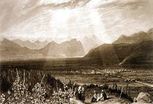 Turner - Chain of Alps from Grenoble to Chamberi, from the Liber Studiorum, engraved by William Say, 1812