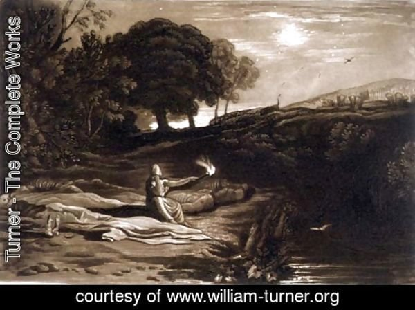 Turner - Rispah, from the Liber Studiorum, engraved by Robert Dunkarton, 1812