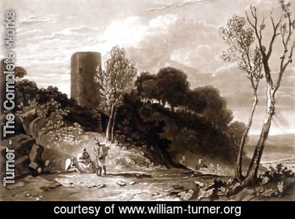 Turner - Winchelsea, Sussex, from the Liber Studiorum, engraved by J.C. Easling, 1812