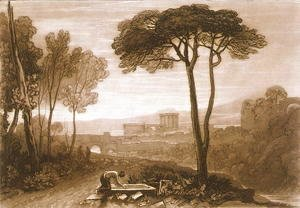 Turner - Scene in the Campagna, from the Liber Studiorum, engraved by William Say, 1812