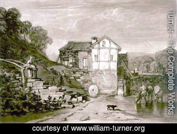 Turner - Water Mill, from the Liber Studiorum, engraved by Robert Dunkarton, 1812