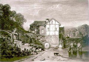 Water Mill, from the Liber Studiorum, engraved by Robert Dunkarton, 1812