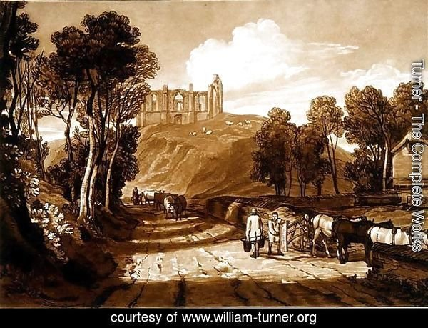 Catherine's Hill near Guildford, from the Liber Studiorum, engraved by J.C. Easling, 1811