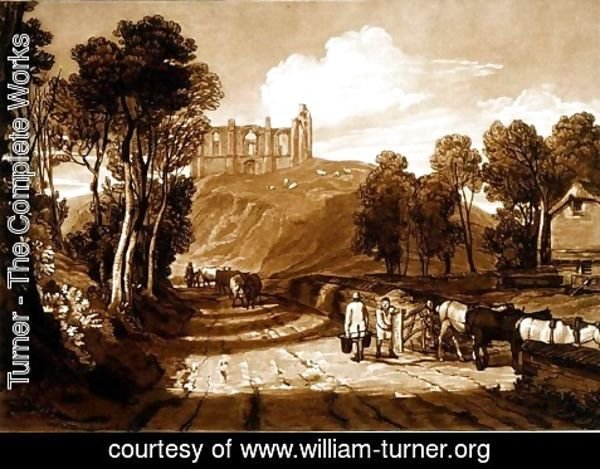 Turner - Catherine's Hill near Guildford, from the Liber Studiorum, engraved by J.C. Easling, 1811