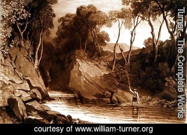 Turner - Near Blair Athol, from the Liber Studiorum, engraved by William Say, 1811