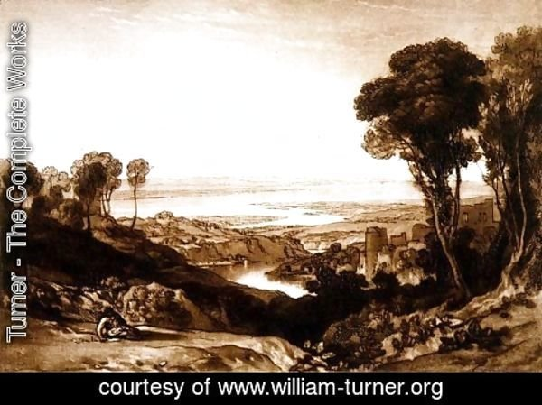 Turner - Junction of Severn and Wye, from the Liber Studiorum, 1811