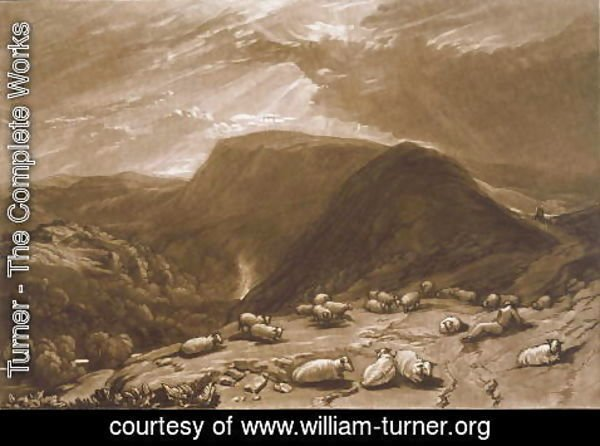 Turner - Hind Head Hill, from the Liber Studiorum, engraved by Robert Dunkarton, 1811