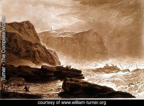 Coast of Yorkshire, from the Liber Studiorum, engraved by William Say, 1811