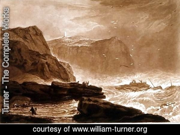 Turner - Coast of Yorkshire, from the Liber Studiorum, engraved by William Say, 1811