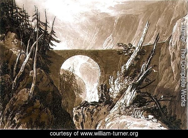 Little Devil's Bridge, from the Liber Studiorum, engraved by Charles Turner, 1809