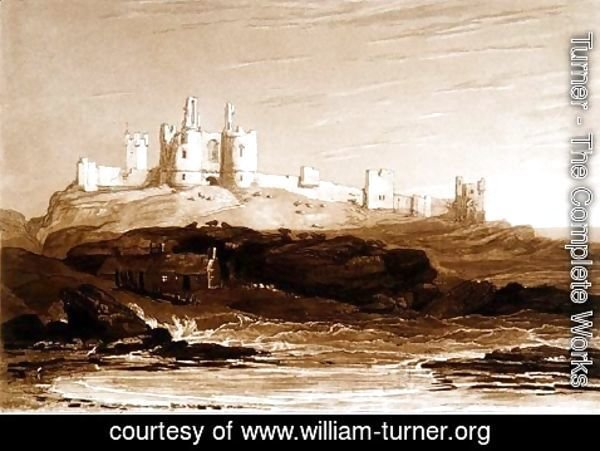 Turner - Dunstanborough Castle, from the Liber Studiorum, engraved by Charles Turner, 1808