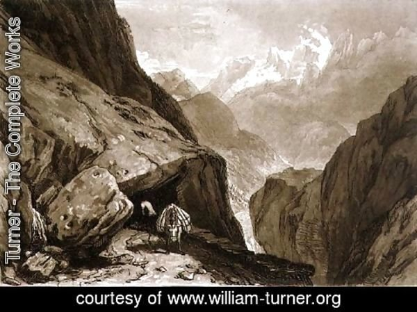 Turner - Mt. St. Gothard, from the Liber Studiorum, engraved by Charles Turner, 1808