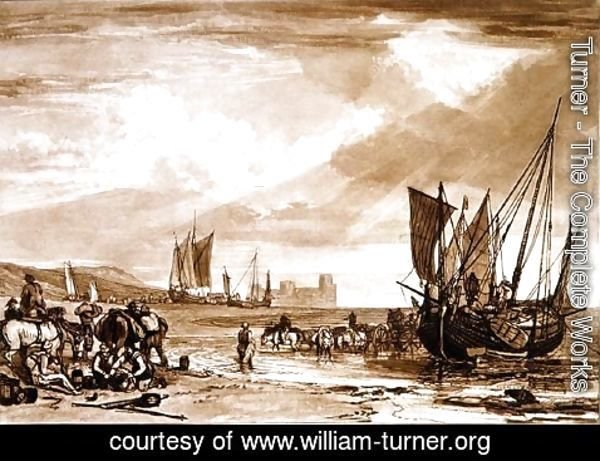 Turner - Scene on the French Coast, from the Liber Studiorum, engraved by Charles Turner, 1807