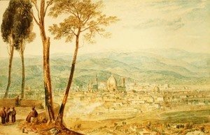 Turner - Florence from the road to Fiesole