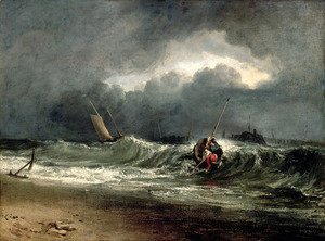 Turner - Fishermen upon a lee-shore in squally weather