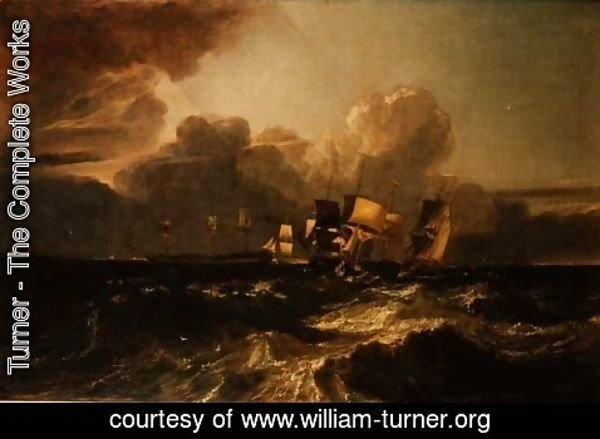 Turner - Ships Bearing up for Anchorage