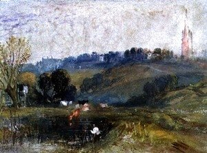 Turner - Landscape near Petworth, c.1828