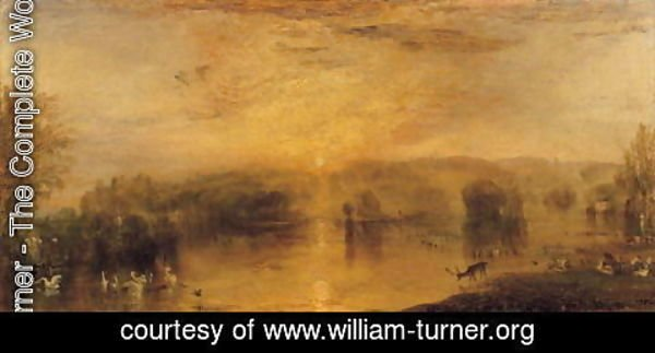 Turner - The Lake, Petworth Sunset, a Stag Drinking, c.1829