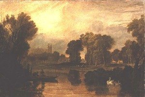 Turner - Eton College from the River, or The Thames at Eton, c.1808