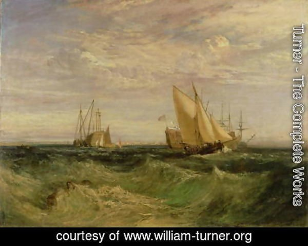 Turner - The Confluence of the Thames and the Medway, c.1808