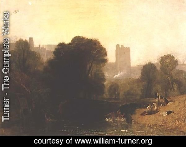 Turner - Near the Thames Lock, Windsor, c.1809