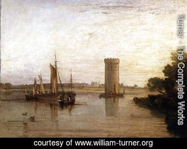 Turner - Tabley, the Seat of Sir J.F. Leicester, Bart. Calm Morning, c.1809