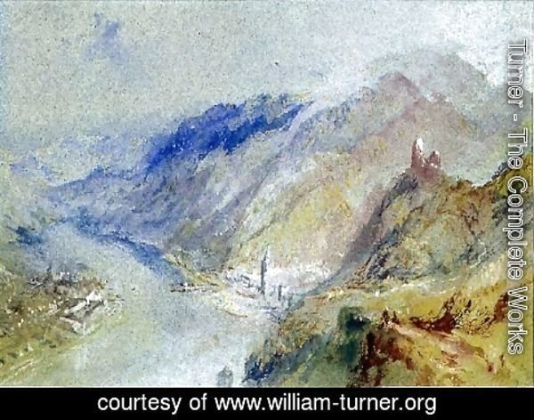 Turner - The Castle of Trausnitz overlooking Landshut, c.1839
