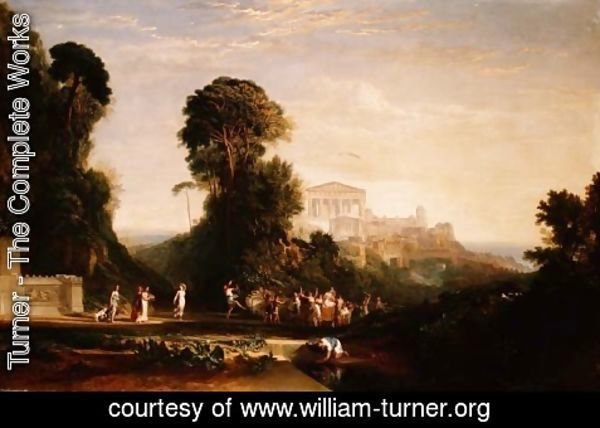 Turner - The Temple of Jupiter - Prometheus Restored