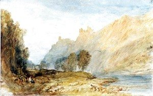 Turner - Bruderburgen on the Rhine, 1817