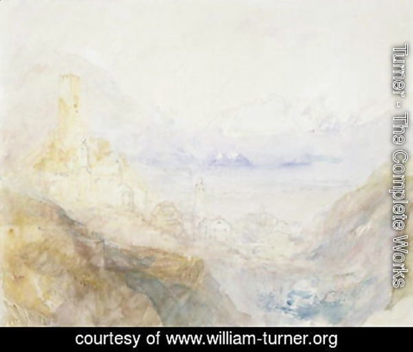 Turner - Hospenthal, Fall of St. Gothard, morning
